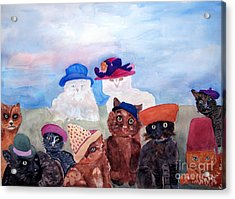 Cats In Hats Acrylic Print