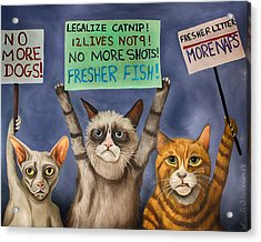 Cats On Strike Edit 3 Acrylic Print