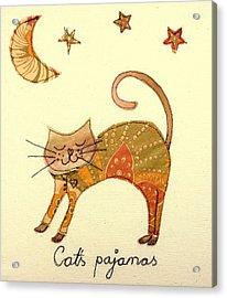 Cats Pajamas Acrylic Print by Hazel Millington