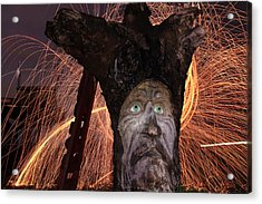 Cattelacs Chainsaw Art 5 Acrylic Print