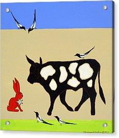 Cattle Guard Acrylic Print