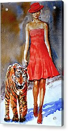 Acrylic Print featuring the painting Catwalk by Steven Ponsford