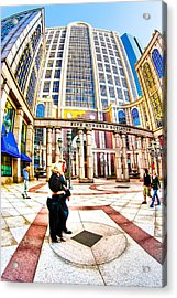 Caught In The Geometry Of Boylston Street Acrylic Print by Mark E Tisdale