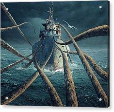 Caught The Ship Acrylic Print