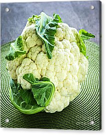 Cauliflower Acrylic Print by Elena Elisseeva