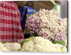 Cauliflower Acrylic Print by Terry Horstman