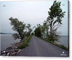 Causeway Between Mills Point And South Hero Vermont Acrylic Print by Mark Holden
