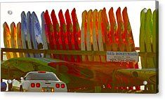 Acrylic Print featuring the photograph Causeway Kayaks by Alice Mainville