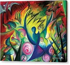 Acrylic Print featuring the painting Causing A Scene by Tiffany Davis-Rustam