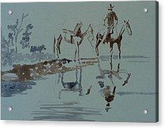 Cautious Creek Crossing Acrylic Print