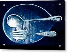 Blue Luster Acrylic Print