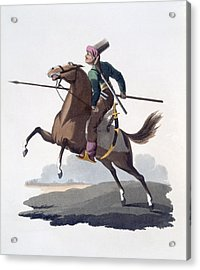 Cavalry Man, 1818 Acrylic Print by English School