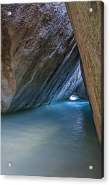 Cave At The Baths Acrylic Print by Adam Romanowicz