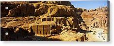 Cave Dwellings, Petra, Jordan Acrylic Print by Panoramic Images