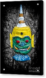 Cave Face 1 Acrylic Print by Adrian Evans