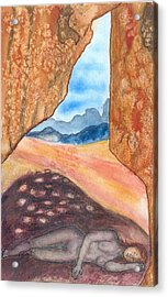 Cave Acrylic Print by Lucia Conrad