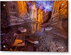 Cave Reflection Acrylic Print