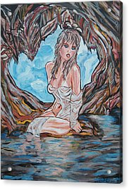 Cave Woman Acrylic Print by Lorinda Fore