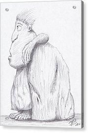 Caveman Acrylic Print