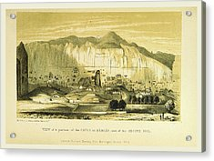 Caves At Bamian, Narrative Of Various Journeys Acrylic Print by Litz Collection