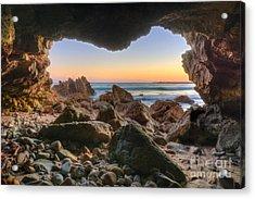 Beachside Cave Acrylic Print