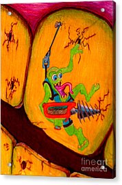 Acrylic Print featuring the drawing Cavity Creep by Justin Moore
