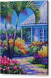 Cayman Yard Acrylic Print