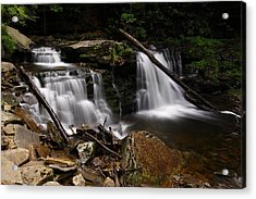 Cayuga Waterfalls Acrylic Print by David Simons