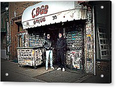 Acrylic Print featuring the photograph Cbgb New York 1992 by Timothy Lowry