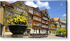 Ccolourful Traditional Appenzeller Homes Urnaesch Canton Appenzell Outer Rhodes Switzerland Acrylic Print by PIXELS  XPOSED Ralph A Ledergerber Photography