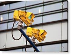 Cctv Cameras For Monitoring Traffic Acrylic Print