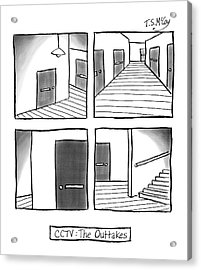 Cctv: The Outtakes -- Four Panels Of Security Acrylic Print by T.S. McCoy