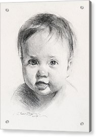 Cece At 6 Months Old Acrylic Print by Anna Rose Bain