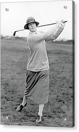 Cecil Leitch Swinging A Golf Club Acrylic Print