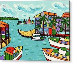 Cedar Cove Marina - Cedar Key Acrylic Print
