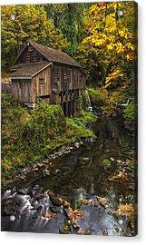 Cedar Creek Grist Mill 2 Acrylic Print by Mark Kiver