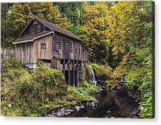 Cedar Creek Grist Mill Acrylic Print by Mark Kiver