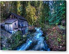 Cedar Creek Grist Mill Acrylic Print by Puget  Exposure