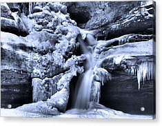 Cedar Falls In Winter Acrylic Print by Dan Sproul