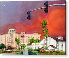Cedar Fire San Diego 2003 Acrylic Print by Mary Helmreich