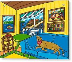 Cedar Key Snoozer Acrylic Print