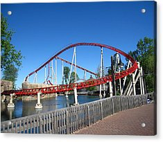 Cedar Point - Iron Dragon - 12121 Acrylic Print