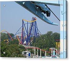 Cedar Point - Mantis - 121211 Acrylic Print by DC Photographer