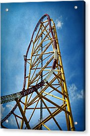 Cedar Point - Top Thrill Dragster Acrylic Print by Shawna Rowe