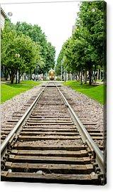 Cedar Rapids Train Coming Down The Tracks Acrylic Print