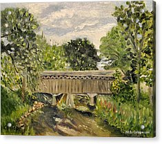 Cedarburg Covered Bridge Acrylic Print