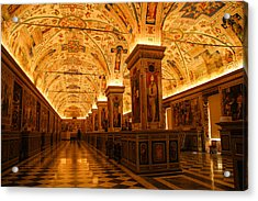 Ceiling Details Of A Museum Acrylic Print by Celso Diniz