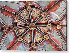 Ceiling Medallion Tepoztlan Acrylic Print by Linda Queally