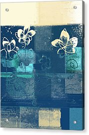 Celebrate - Blue3tx2 Acrylic Print by Variance Collections