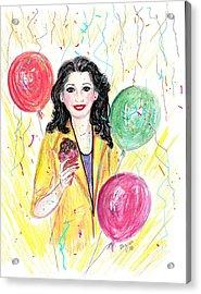 Celebrate Life Acrylic Print by Desline Vitto